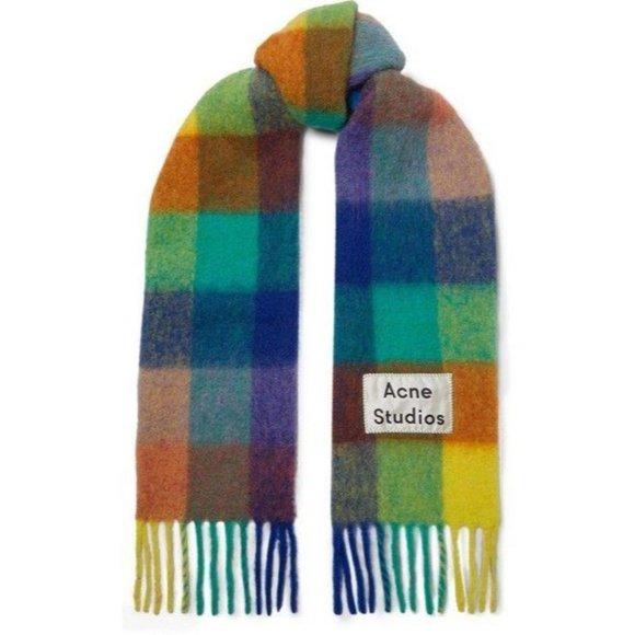 brand new acne studio scarf in green